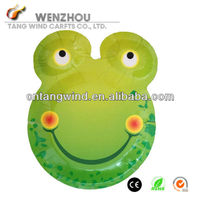 Frog Shaped Paper Printed Plate for Party Use