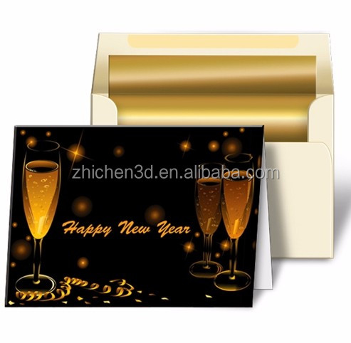 China manufacturer supplier greeting advertising souvenir gift Decoration pp lenticular printing 3d greeting card