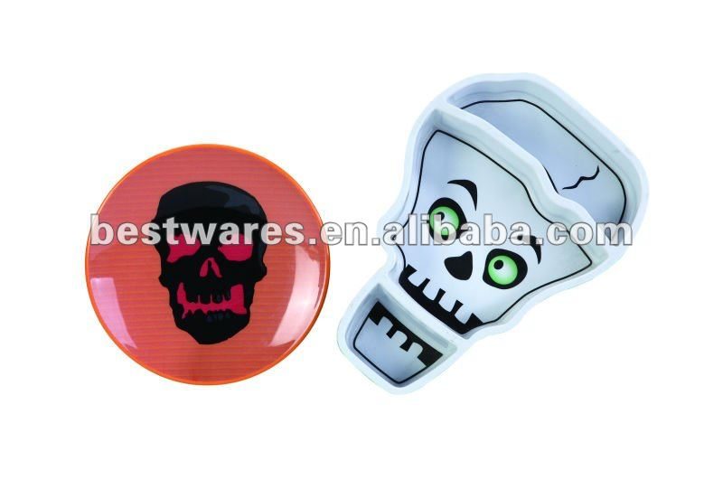 2015 New arrival eco friendly halloween kinds of melamine plate