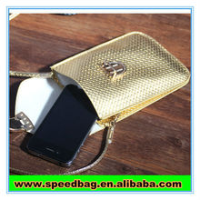 Golden cell phone sling bag waterproof phone bag for all cellphone