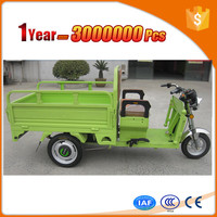 48V 500W electric brushless datai motor tricycles with big cargo cabin