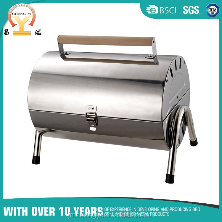 Portable stainless steel bbq charcoal grill smoker for sale in malaysia