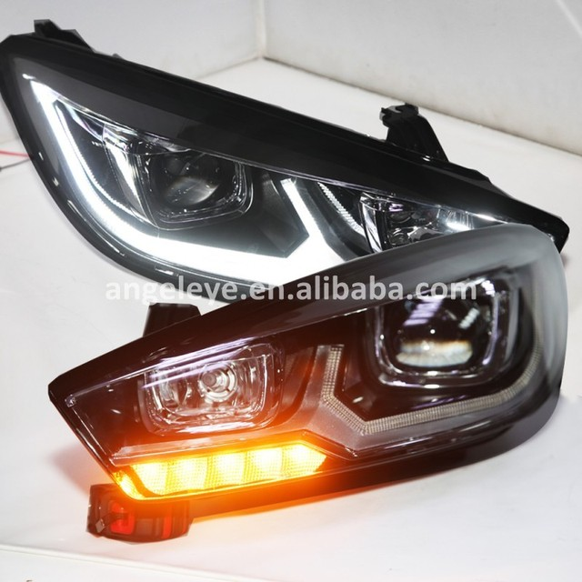 2015 year LED front lamp For Chevrolet Cruze LED strip Head Lights front lights for Cruze SY