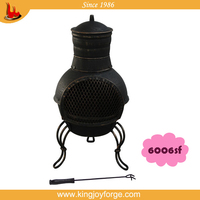 outdoor mini cast iron chiminea/cast iron chimenea