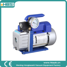 Factory Sales 2.5 CFM Small Portable Single Stage Rotary Vane Vacuum Pump with Gauge