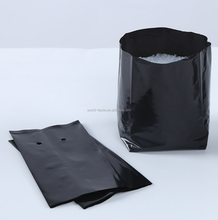 Cheap plastic black seedling planter poly grow bags for agriculture product