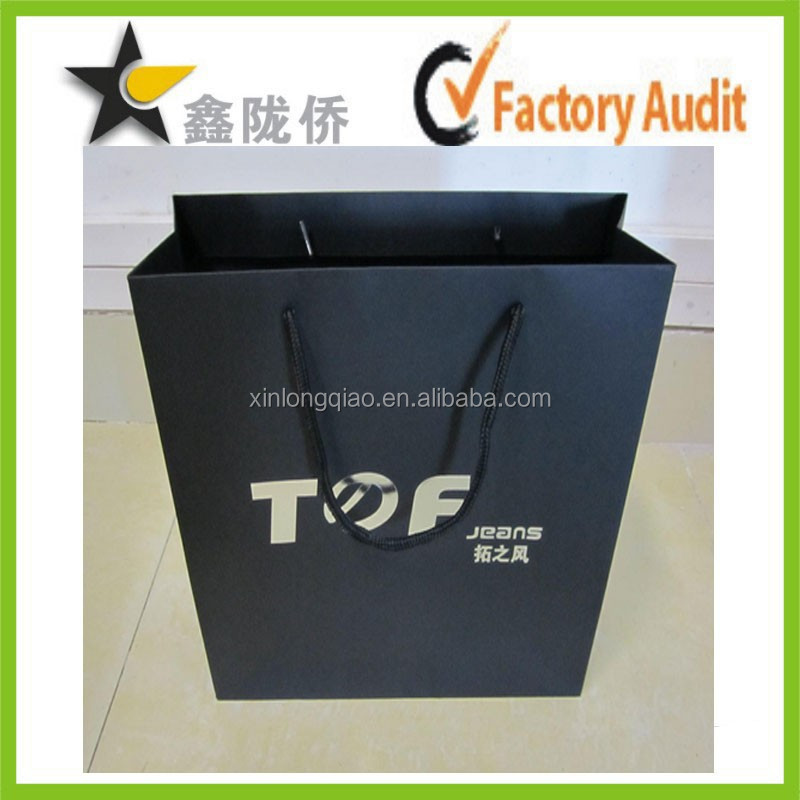 2015 professional manufacturer custom factory made grocery paper bag