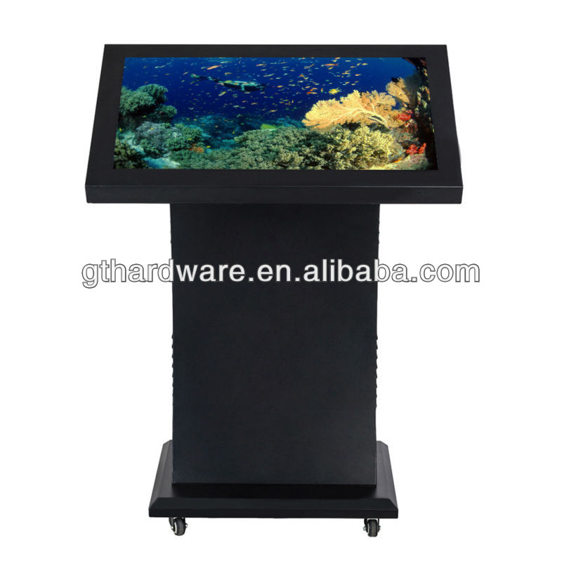 26 inch standing indoor touch advertising player wifi 3g card ad display all in one pc tv led flexible digital display