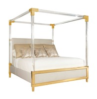 Latest Double Bed Designs Hotel King/Queen Size Sleeping Bed Acrylic Bed Frame