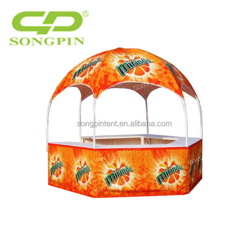 China tent manufacture wholesale price customized Dia 3m excellent dye sublimation printing hexagonal bell dome tent