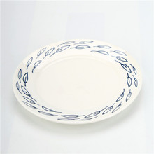 Cartoon design <strong>flat</strong> cater customized cheap plain white dinner plates for restaurant