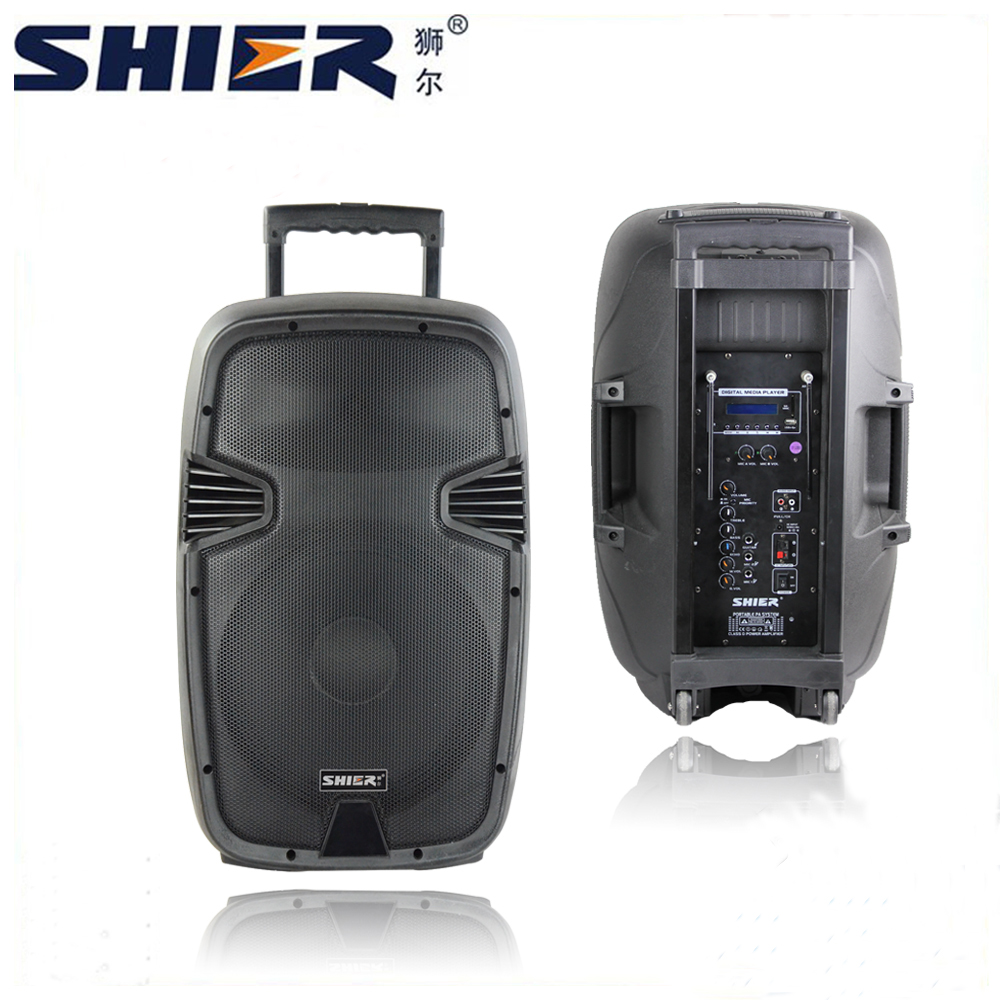 OEM Outdoor Super Bass Professional Subwoofer <strong>Music</strong> Trolley Guitar Active Speaker With USB Port