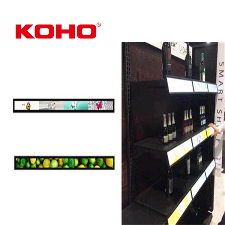 KOHO 7-86 Inch Video Shelf Talker Special Design LCD <strong>Advertising</strong>