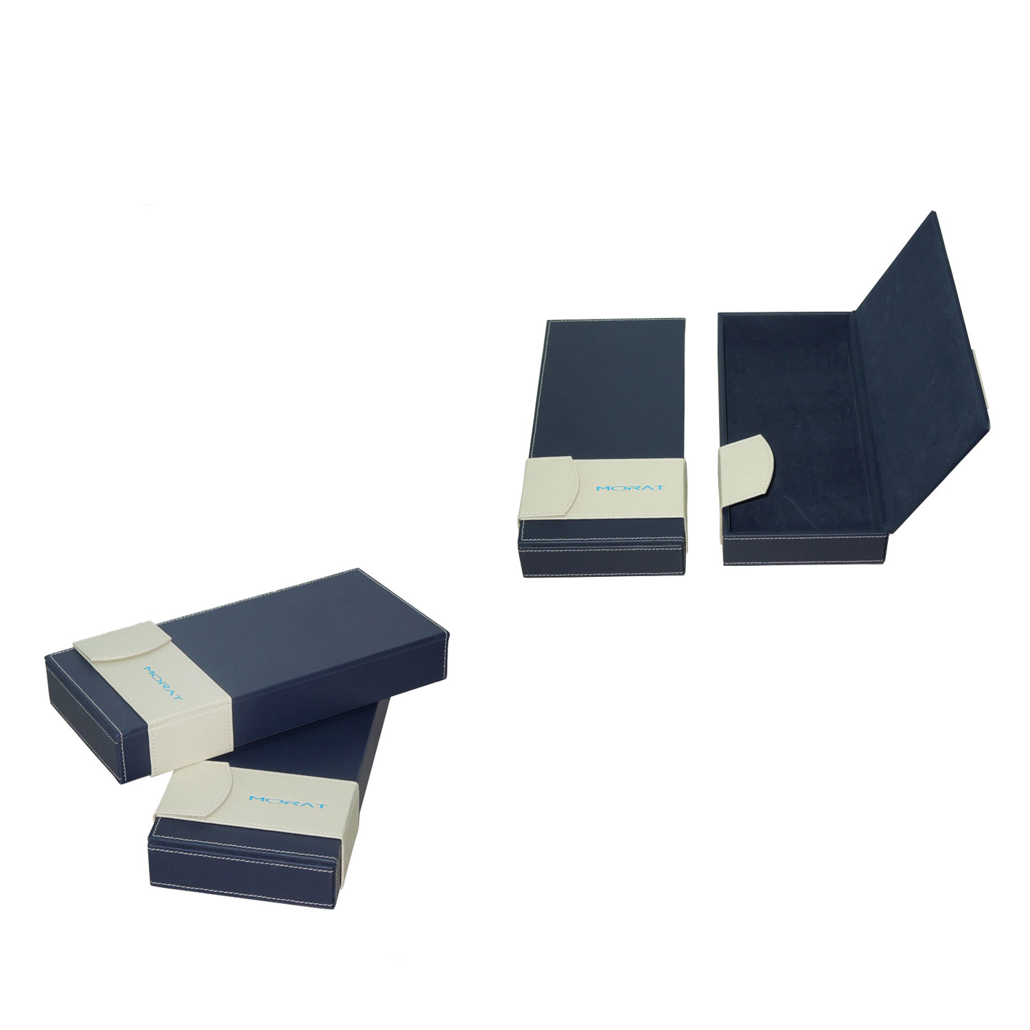 Wholesale custom exquisite small magnetic quadrate leather gift box