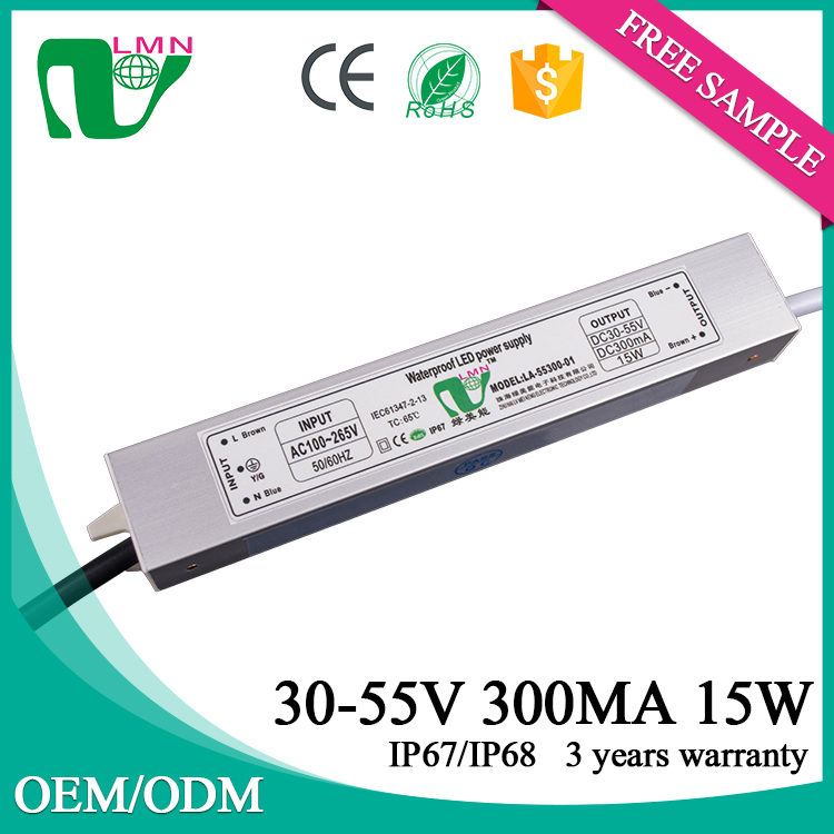 55V 300ma constant current power 15W led driver for panel light