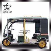 2017 Electric battery powered auto tricycle rickshaw, passenger tricycle e rickshaw