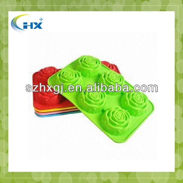 2014 MA-553 2013 Hot Selling Custom Silicon Cake mould Plastic Christmas Storage Trays