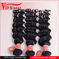 brazilian deep wave human hair natural color 1b for women
