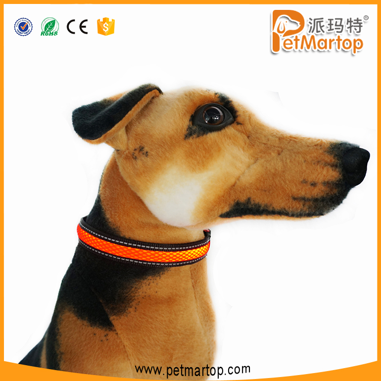 Polyester Webbing LED Glow Collar Dog Puppy Pet Flashing Light Safety Collar