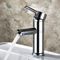 HOT SELLING CHROME FINISHED SINGLE LEVER BATHROOM BASIN WATER TAP, CLASSIC BRASS BATHROOM FAUCET