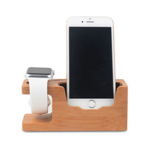 High quality bamboo multifunctional design wood charging stand for Apple watch iPhone and iPad