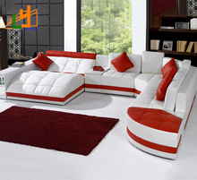 Home Furniture Comfortable U Shape L Shape Sofa Bed Modern Wood Furniture Sofa Designs For Drawing Room