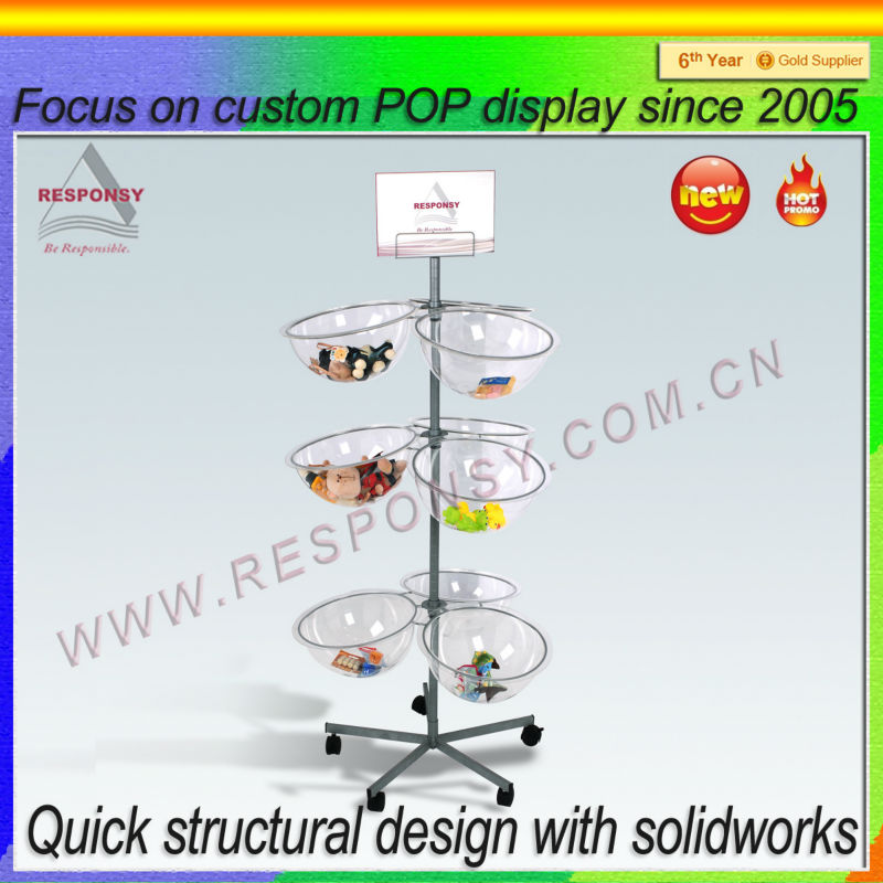 custom POP shopping mall supermarket boutique display rack