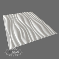 Most popular home interior design 3d wallboard panels plant fiber wall panel