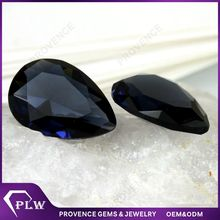 Wholesale Price Pear Shape Synthetic Gem Diamond Cut Glass Gems for Jewelry