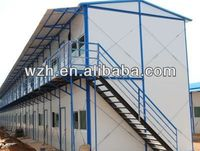 Dismountable double slope two floors prefab accommodation