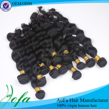 Real raw unprocessed wet and wavy indian remy hair weave bundle