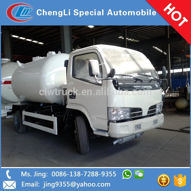 Dongfeng Mini 4*2 liquefied petroleum gas transportation vehicle, china new lpg tank truck factories
