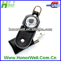 Novelty Multifunction Leather Compass USB Flash