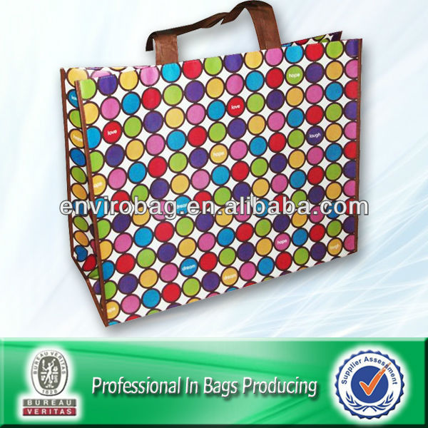 Lamination pp non woven delicate colorful shopping bag