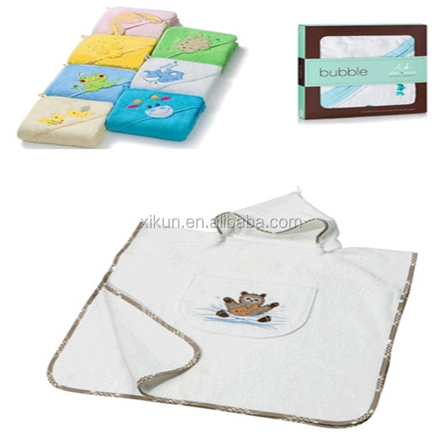 100% bamboo terry embroidery hooded baby bath <strong>towel</strong>