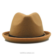 2017 New style warm trilby short birm wool felt fedora panama hat for men