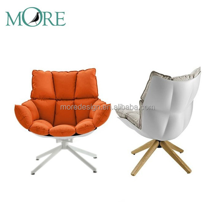 Husk Outdoor H2 chair, Fiberglass Shell Husk Chair in Fabric, Husk chair in 4 star metal legs