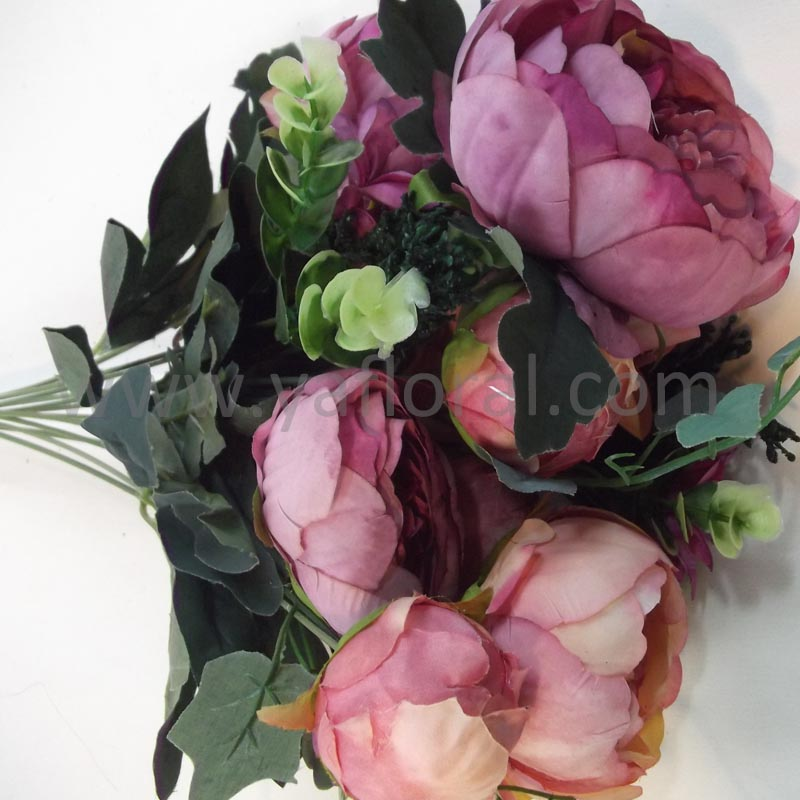 Bulk tianjin artificial flower factory outdoor artificial flowers blue silk flowers wedding bouquets Peony