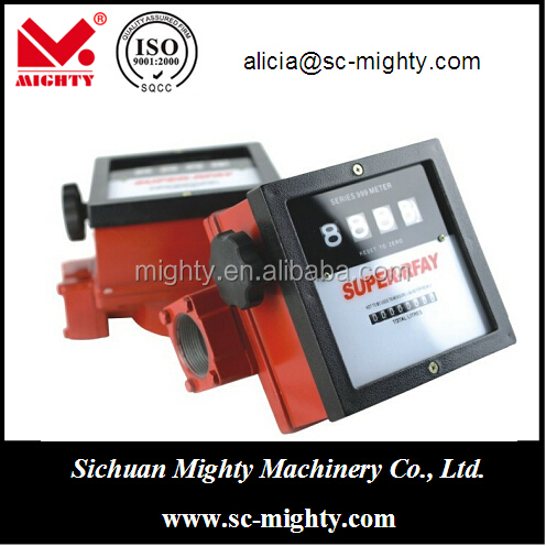 1, 1.5, 2 inch machinery flow meter types with flow range 40-110LPM