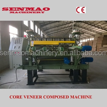 china press machine okoume core veneer joint/ plywood core veneer compose machine