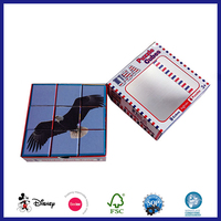 Promotional custom folding kids iq picture puzzle cube