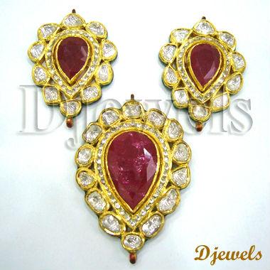 List manufacturers of meena kundan buy meena kundan get discount polki meena pendant sets kundan polki pendant sets polki jewelry aloadofball Choice Image