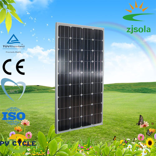 ZJSOLA factory price good quality 100W monocrystalline solar panels pv module for home use