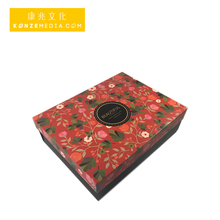 High quality beautiful creative girls love red color luxury square with ribbon packaging printing gift paper box