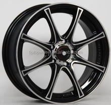 black machine face 16 inch pcd 4x100 alloy wheel fit for Japanese car wheels