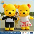 Customized lovely inflatable bear cartoon for advertising