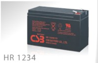 BATTERY HR1234WF2 CSB TECHNOLOGIES INC 12V 9Ah HIGH RATE 34 Watts for 15 Min AGM