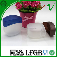 PP oval custom small empty cosmetic plastic container with lid for personal care