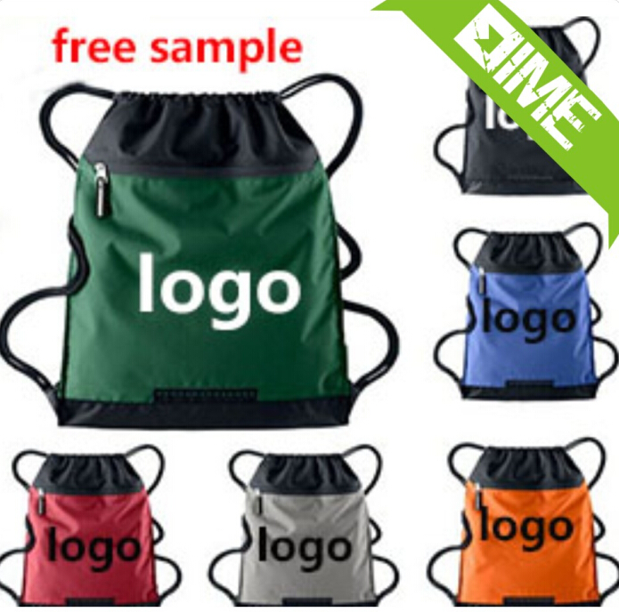 High Quality Waterproof Nylon Drawstring Sport Bags