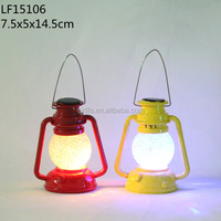 cast iron led Stained glass solar lamp
